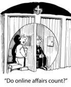 Internet church — Stock Photo