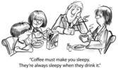 Sleepy coffee — Stock Photo