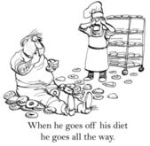 Glutton — Stock Photo