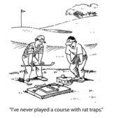 Dangerous golf — Stock Photo