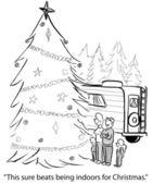 Kreslené vánoční — Stock fotografie