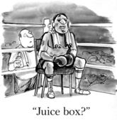 Cartoon illustration. Boxer sitting in the corner of the ring — Stock Photo