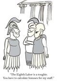 Cartoon illustration. Roman soldiers — ストック写真