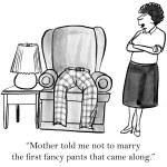Постер, плакат: Cartoon illustration Fancy pants