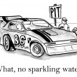 Cartoon illustration. What, no sparkling water — Stock Photo