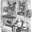 Cartoon illustration. Trophy room — Stock Photo