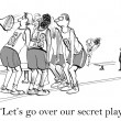 Cartoon illustration. Secret play — Stock Photo