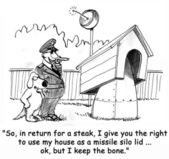 Military dog house. Cartoon illustration — Stock Photo
