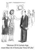 Ilustracja kreskówka. kobiety w pewnym wieku — Zdjęcie stockowe