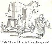 Cartoon illustratie. paard van troje — Stockfoto