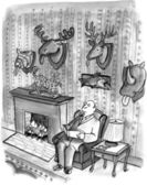 Cartoon illustration. Trophy room — Stock Photo
