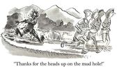 Cartoon illustratie. modder gat — Stockfoto