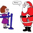 Santa apologizes to woman — Stock Photo