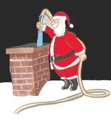 Santa Waterhose — Stock Photo