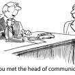 Meeting with head of communications — Stock Photo #36094501