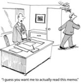 Missed memo — Stock Photo