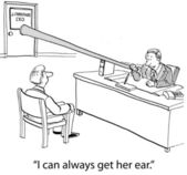 Get the boss' ear — Stock Photo