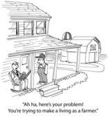 Farm Runoff Problems — Stock Photo