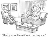 Henry wore himself out courting — Stock Photo