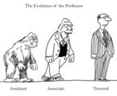Evolution of the Professor — Stock Photo