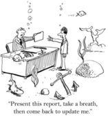 Business on the ocean floor — Stock Photo