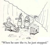 Stopped at tv — Stock Photo