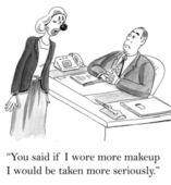 Makeup for seriousness — Zdjęcie stockowe