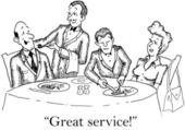Waiters do a great job — Stock Photo