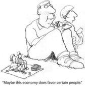 Economy favors certain people — Stock Photo