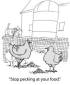 Stop pecking at food — Stock Photo
