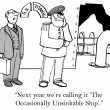 Cartoon illustration. Unsinkable — Stock Photo