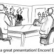 Cartoon illustration - Great presentation — Stock Photo