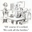Stock Photo: Cartoon illustration - corked bottles