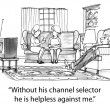 Stock Photo: Cartoon illustration - channel selector