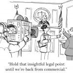 Cartoon illustration - Hold that point — Stock Photo