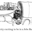 Cartoon illustration - be in jobs rush — Stock Photo