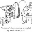 Cartoon illustration - Bears with computer — Stock Photo