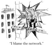 Cartoon illustration - blame network — Stockfoto
