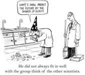 科学家有更多的精神对待生活 — 图库照片