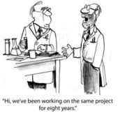 Cartoon illustration - Same project — Stock Photo