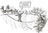 Cartoon illustration - reduce risk factors — Stock Photo