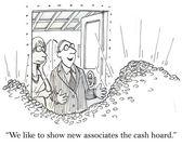 Cartoon illustration - Cash hoard — Stock Photo