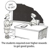 Cartoon illustration - Higher rewards — Stock Photo