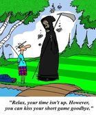 Death on the golf course — Stock Photo