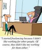 Freelance — Foto de Stock