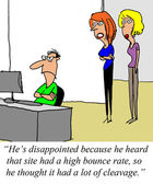 Bounce rate — Stock Photo