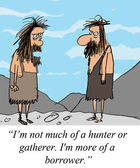 Caveman is not a hunter or gatherer — Stock Photo