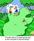 Golfer has 68 putts — Stock Photo
