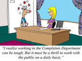 Working in the Complaints Department can be tough. — Stock Photo