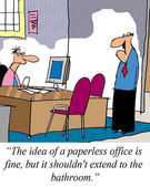 Paperless office — Stock Photo
